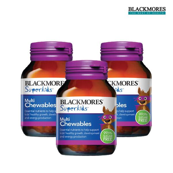 [1+2]BLACKMORES 블랙모어스 Superkids Multi Chewables 60s 슈퍼키즈 멀티 츄어블 비타민 60정*3 [어린이용 비타민] (면세점재고 / 해외구매대행 / 유통기한 5월26일)