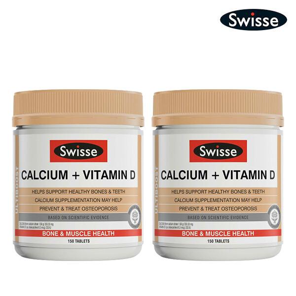 [1+1] SWISSE 스위스 UB Calcium + Vitamin D 얼티부스트 칼슘+비타민 D 150정*2 (면세점재고 / 해외구매대행 / 유통기한 6월 30일)
