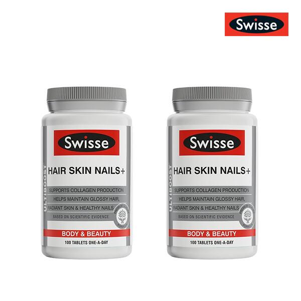 [1+1] SWISSE 스위스 헤어스킨네일+ 이너뷰티 포뮬라 100정 (한국 면세점재고 해외구매대행/유통기한 5월31일)