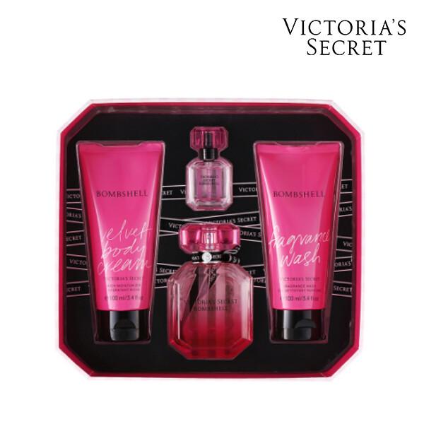 Victorias Secret 빅토리아 시크릿 VS BOMBSHELL MEDIUM BOX OS 향수/바디크림/바디워시 세트 (면세점재고 / 해외구매대행)
