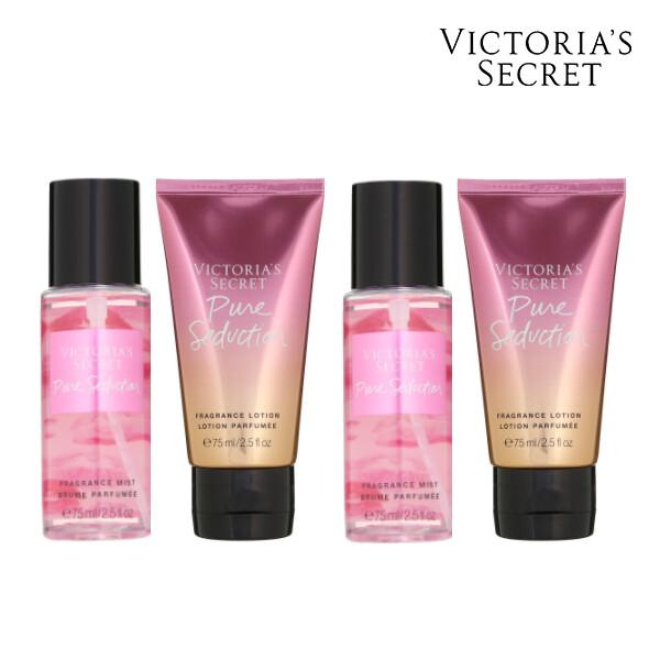 [1+1] Victorias Secret 빅토리아 시크릿 PURE SEDUCTION GIFTABLE  미스트/로션 세트 147ML (면세점재고 / 해외구매대행)