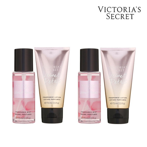 [1+1] Victorias Secret 빅토리아 시크릿 VELVET PETALS GIFTABLE  미스트/로션 세트 147ML (면세점재고 / 해외구매대행)