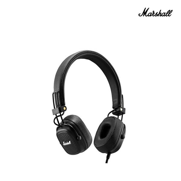 MARSHALL 마샬 ELEC Headset On Ear Major 3 메이저3 온이어 유선 헤드폰 #블랙 (면세점재고 / 해외구매대행)