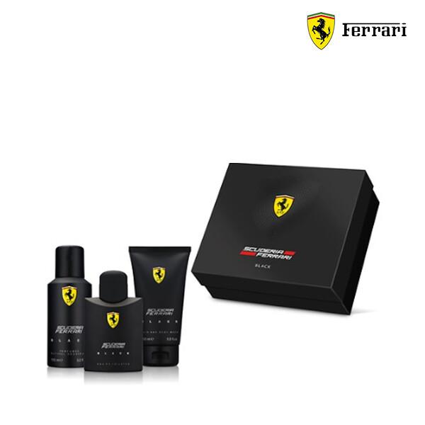 FERRARI 페라리 SCUDERIA FERRARI BLACK TRIO SET 125ml + 150ml + 150ml  (해외구매대행/단독구매/다른 제품과 합포장불가)
