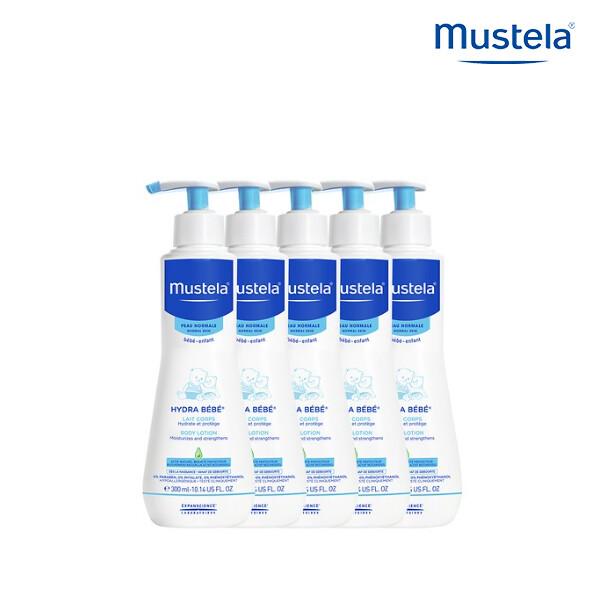 [1+4] MUSTELA 무스텔라 이드라베베 바디로션 300ML X 5 (면세점재고 / 해외구매대행)