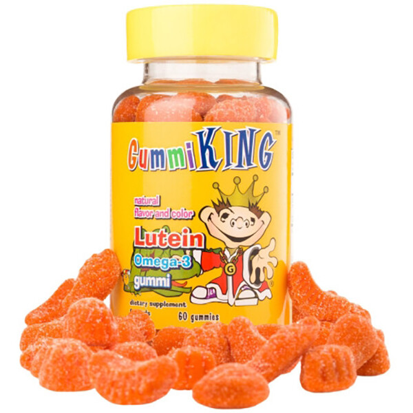 [1+1]Gummi King 구미 킹 루테인 오메가-3 구미젤리 60정 (면세점재고 / 해외구매대행 / 유통기한: 2021년 11월까지)