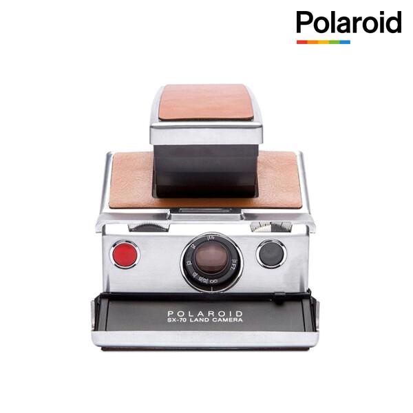 폴라로이드 SX-70 즉석카메라 실버 브라운 수동