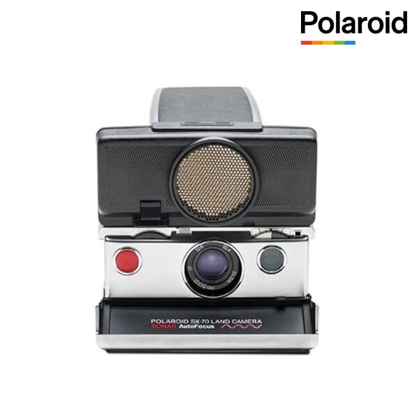 폴라로이드 SX-70 즉석카메라 실버 블랙 오토