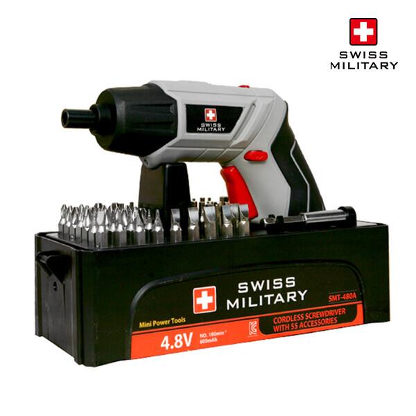 [스위스 밀리터리] 4.8V 충전식 무선 전동드라이버 SMT-480A 고급형