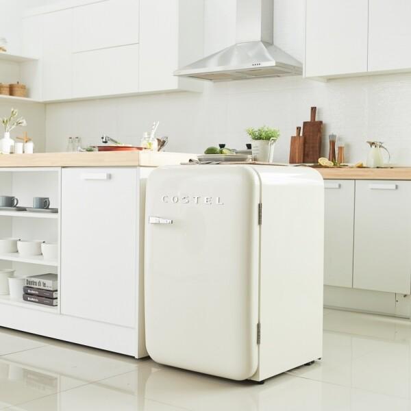 코스텔 X 리씽크 레트로 냉장고 CRS-107HA 107L (3가지 색상 블랙/레드/아이보리,냉장실 92L / 냉동실 15L)