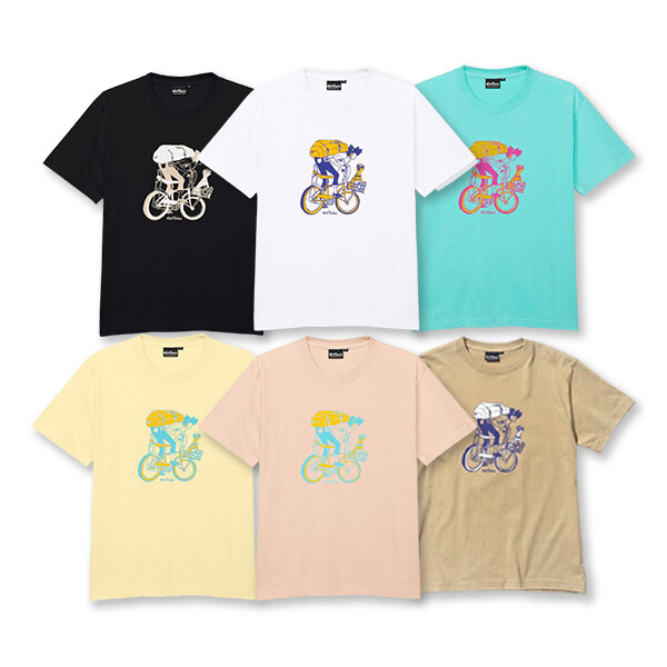 WILD THINGS CITY BICYCLE 남여공용 반팔 상의 5color