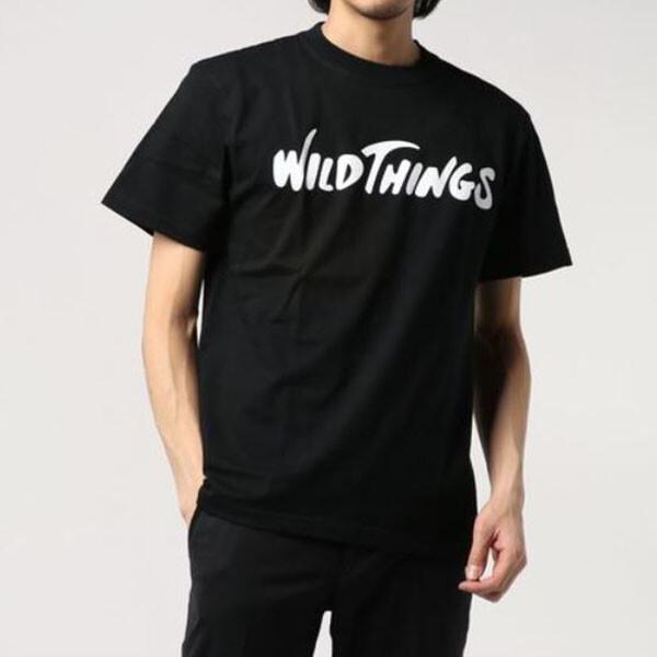 WILD THINGS FLOCKING LOGO TEE BLACK 반팔 상의 블랙