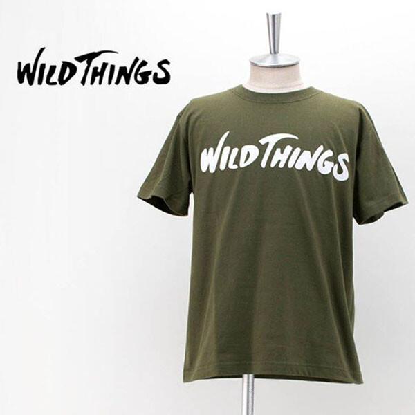 WILD THINGS FLOCKING LOGO TEE OLIVE 반팔 상의 올리브
