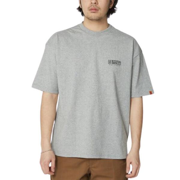 캐릭터 프린트 루즈핏 남성 그레이 티셔츠