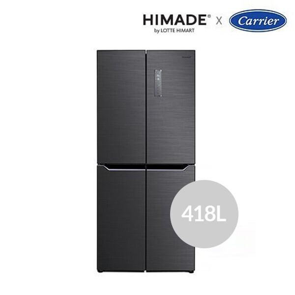 하이메이드 X 캐리어 냉장고 대용량 4도어 HRF-SN418BFP (용량 : 418L / 냉장 270L / 냉동 148L / 4도어 크기 : 79.5 x 180 x 70cm)