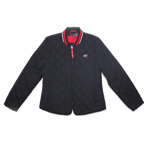 타미힐피거 여성 퀼트 재킷