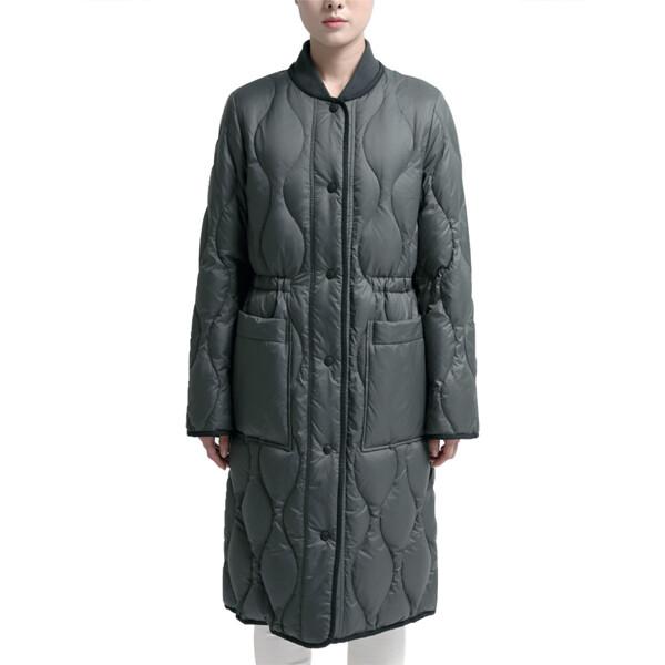 보니스팍스 BONISPAX 여성 퀼트 롱 다운 재킷 (사이즈 : M)