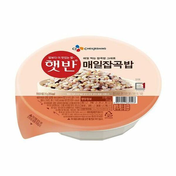 CJ 햇반 매일잡곡밥 210g x 24개입 (유통기한 : 21년 10월 6일 까지)