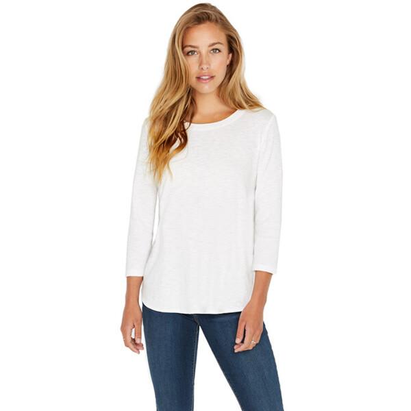 커클랜드 시그니처 여성 슬럽 티셔츠 - 화이트 (사이즈 : XS)