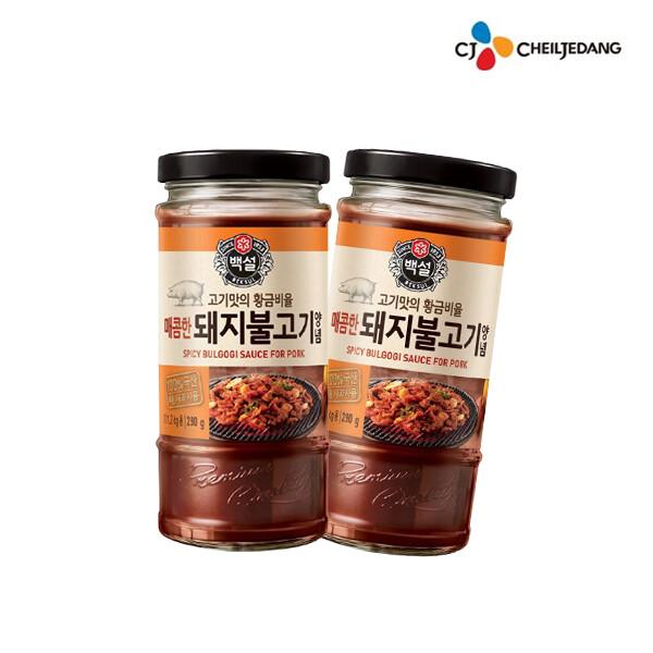 CJ 제일제당 백설 매콤한 돼지불고기양념 290g x 2개입 (2개 발송 / 유통기한 : 2021년 12월 10일 까지)