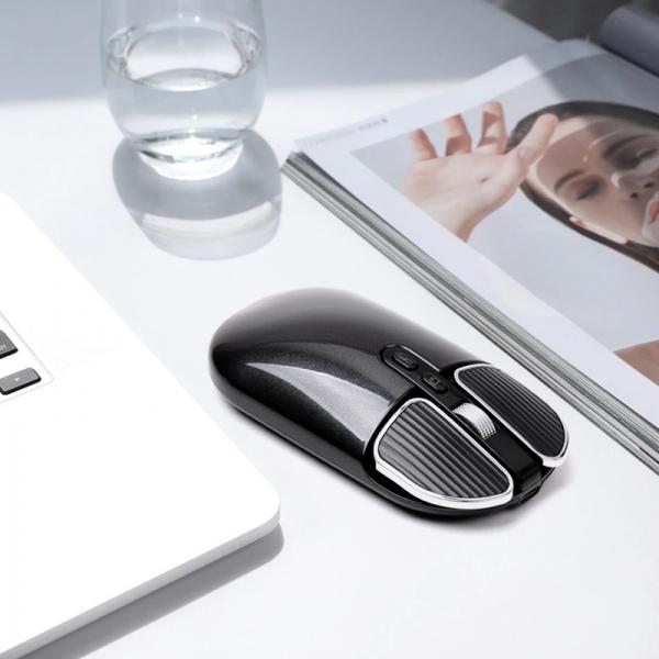 휴대하기 간편! 프리미엄 저소음 노트북용 무선 블루투스 마우스 블랙