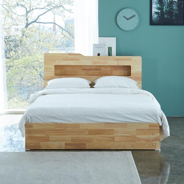 북유럽풍~ 루나 LED 평상형 수납 침대 (매트리스 옵션선택,SS/Q)