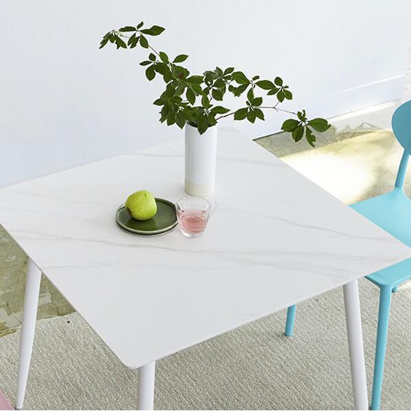 헤라 포셀린 세라믹 화이트 2인용·4인용 식탁(세트구성가능)