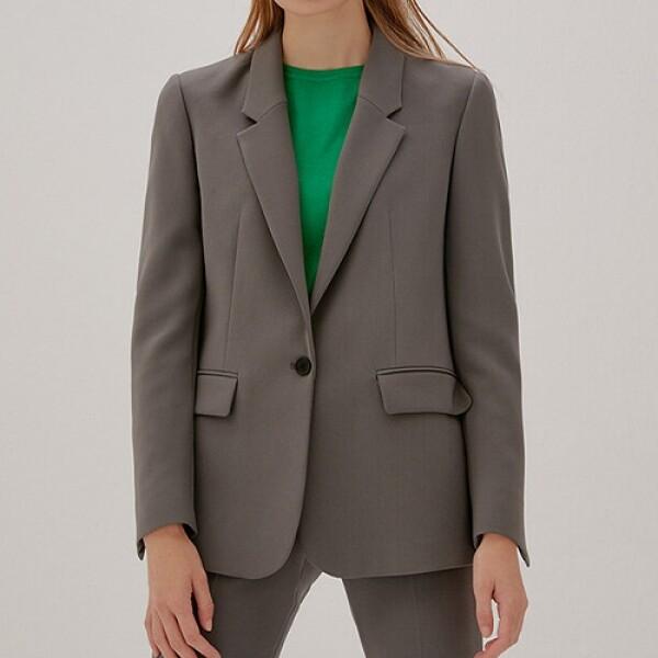 Slit Cuffs Tailored Blazer_GREY 핏 좋은 여성재킷