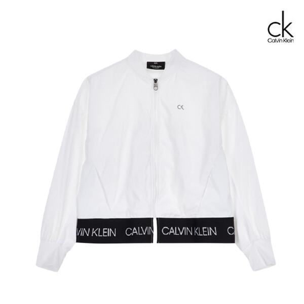 Calvin Klein 캘빈클라인 여성 액티브 아이콘 백 플리츠 봄버 자켓  4WS0O589 (화이트)