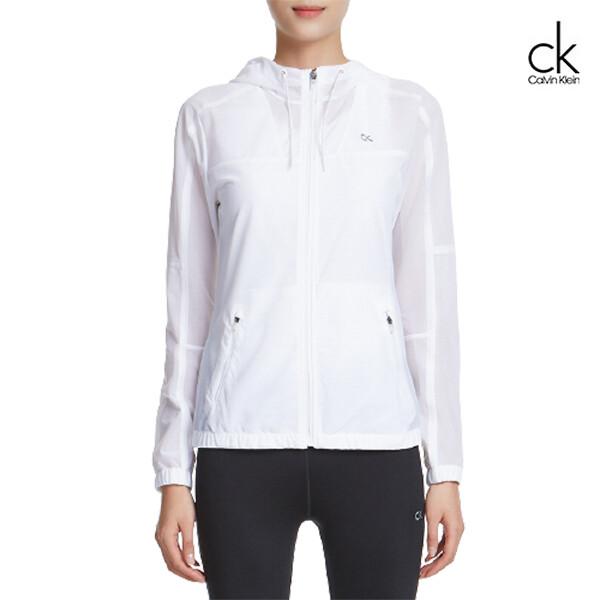 Calvin Klein 캘빈클라인 여성 엑스 레이 워크 아웃 후드 자켓 4WS9O522  (화이트)