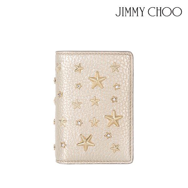 JIMMY CHOO 지미추 JAXI-WDS-LG-19A 지갑 (색상: LIGHT GOLD)