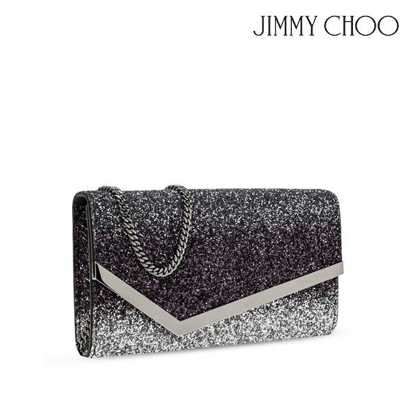JIMMY CHOO 지미추 EMMIE GLITTER SHOULDER BAG 글리터 숄더백 (색상: SILVER/ANTHRACITE/PLUM)
