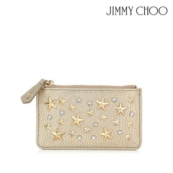 JIMMY CHOO 지미추 NANCY WDS LIGHT GOLD 카드/코인지갑 (색상: LIGHT GOLD)