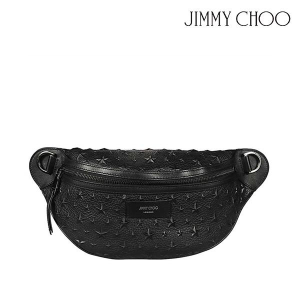 JIMMY CHOO 지미추 YORK EMG Waist bag 웨이스트 백 (색상: BLACK)