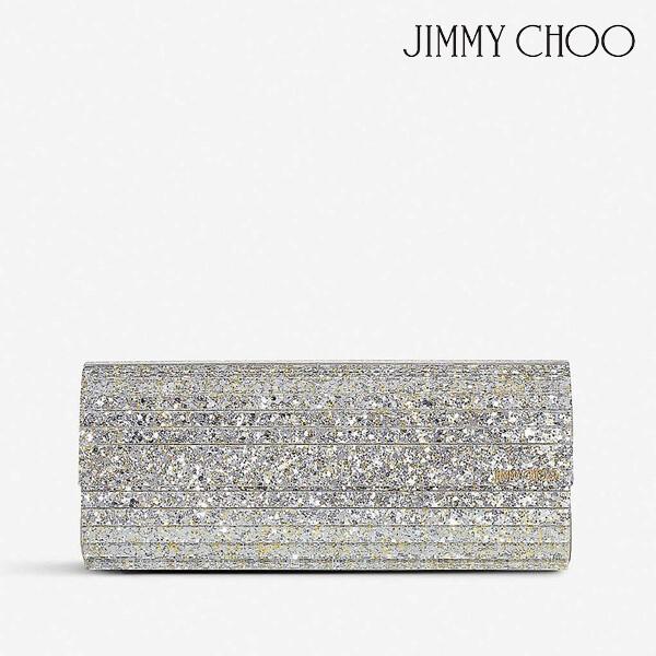 JIMMY CHOO 지미추 Sweetie glitter acrylic clutch 클러치 백 (색상: CHAMPAGNE)