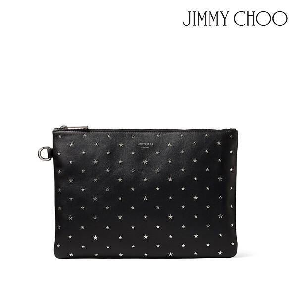 JIMMY CHOO 지미추 DEREK-N YSN  다큐먼트 홀더 백 (색상: BLACK/SILVER)