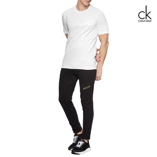 Calvin Klein 캘빈클라인 남성 크루 넥 반팔 T 셔츠 4MS0K13 (화이트,블랙)