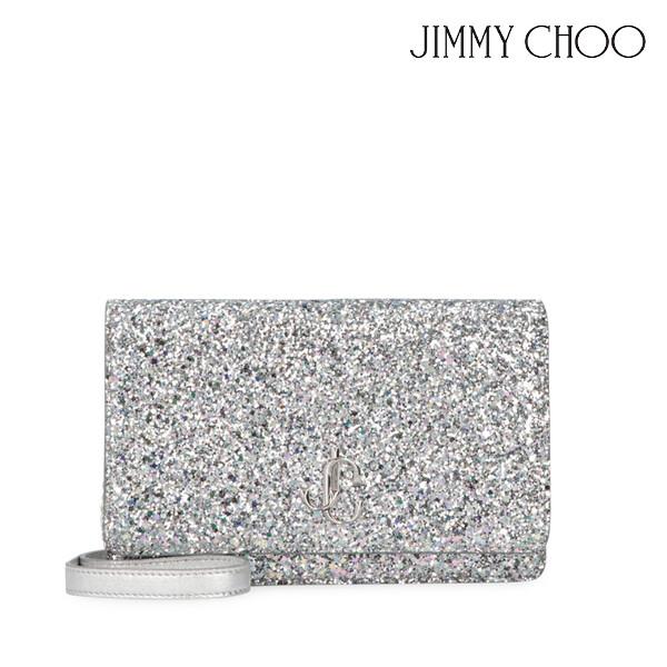 JIMMY CHOO 지미추 Palace glitter fabric clutch PALACEAAK 클러치백 (색상: SKY MIX)