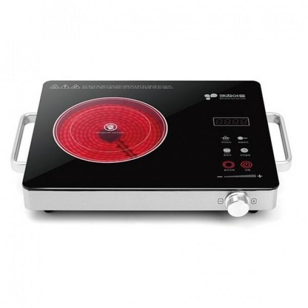 키친아트 럭시 하이라이트 이중 선택열선 터치식 스텐 PK-804 (모든용기호환/원적외선 빛/타이머/잔열경고등)