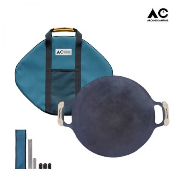 어라운드캠핑 매직그리들 3T 세트 (우드손잡이,가방,다리)
