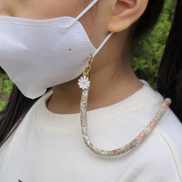 핸드메이드 예쁜 마스크 스트랩 목걸이 4종세트 (랜덤출고/플라워/꽃무늬/유아/아동/성인)