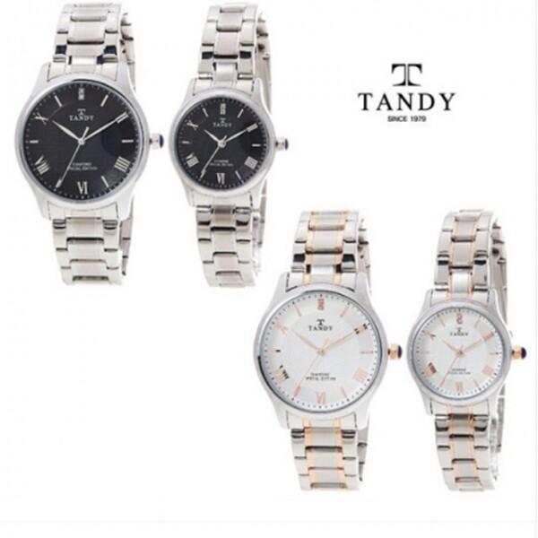 탠디 다이아몬드 커플 메탈 시계 T-3911