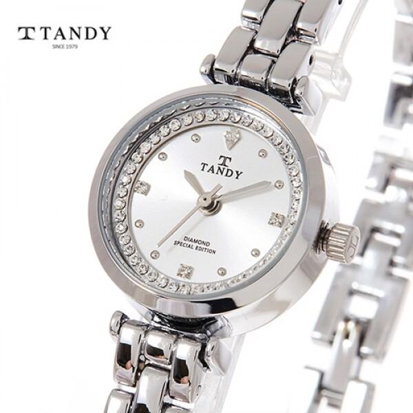 탠디 티아라 다이아몬드 여성메탈시계 T4020