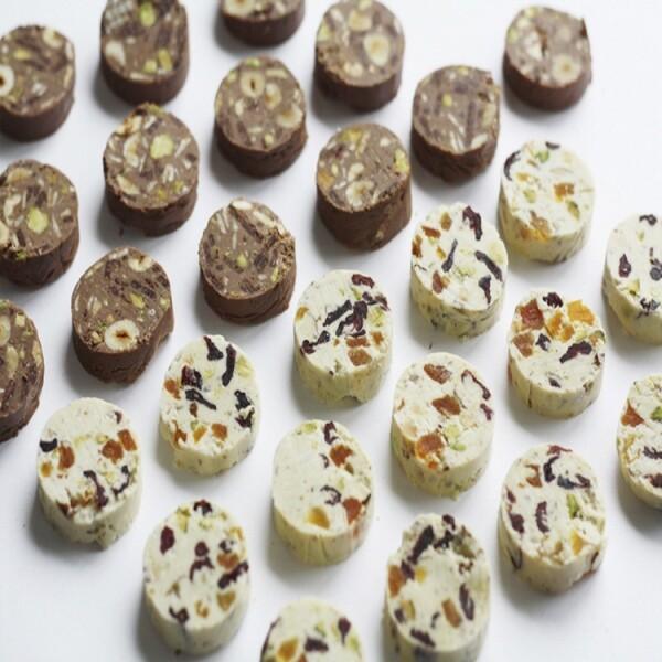 고급 수제 초콜릿 트리투바 살라미 2세트 구성(세트당 화이트 1개 + 밀크 1개 / 선물 박스 + 쇼핑백 포함)
