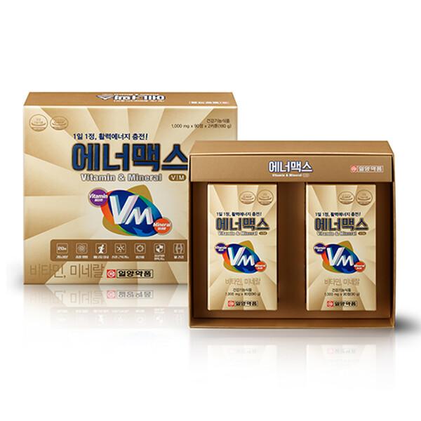 일양약품 에너맥스-종합비타민&미네랄 1,000mg x 90정 x 2SET (6개월 분)
