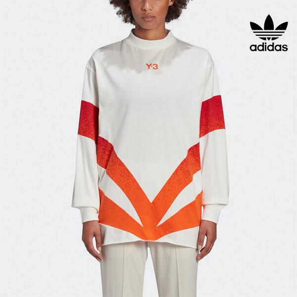 뉴욕 센추리21 X 리씽크 공식 리미티드에디션! 아디다스 X Y-3 CH2 GFX LS TEE 여성 티셔츠  GK4862