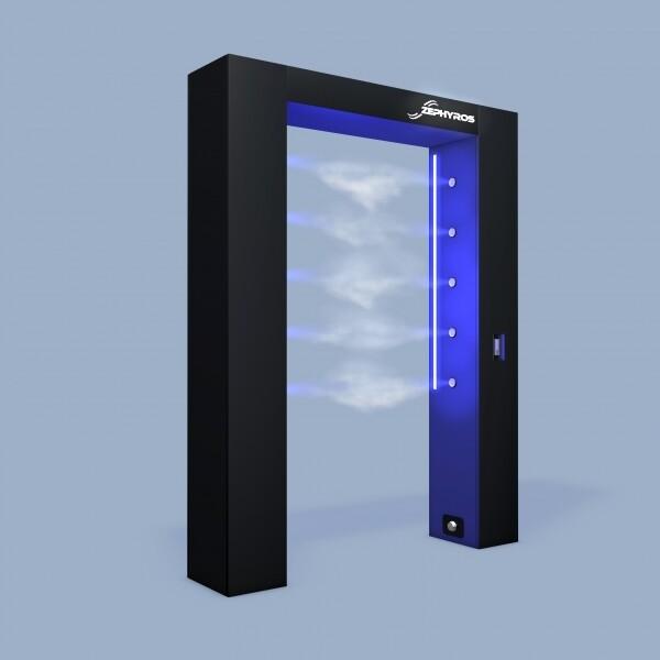 제피로스 라이트 Plus 게이트형 자동방역 출입문 전신소독기 (전국 무료배송설치/살균수 20L 2통 증정!)