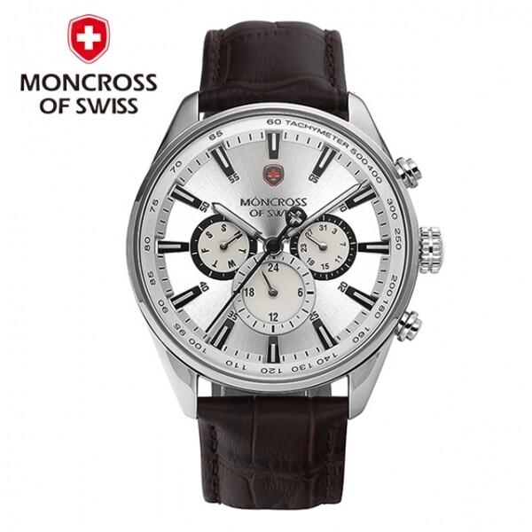스위스 명품 MONCROSS 남성시계 MS3750M-WT 화이트
