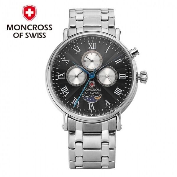 스위스 명품 MONCROSS 남성시계 MS3751M (블랙,화이트)