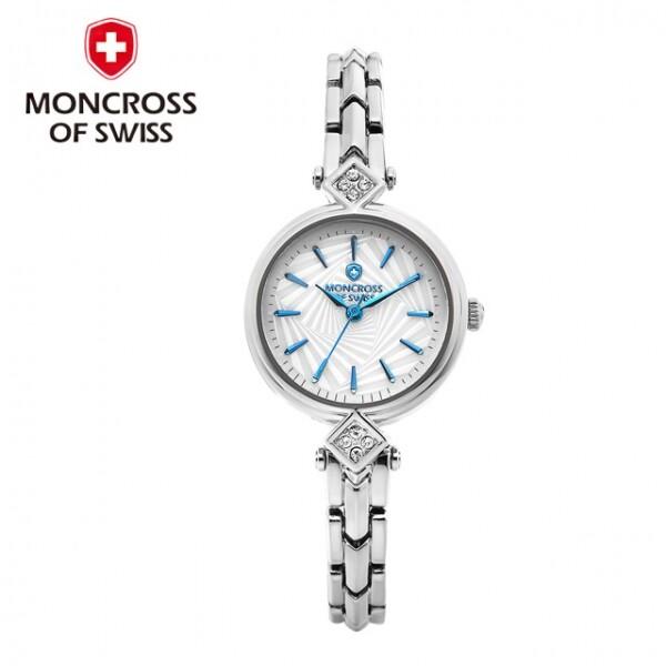 스위스 명품 MONCROSS 여성시계 MS8451 (화이트,블루,로즈골드)